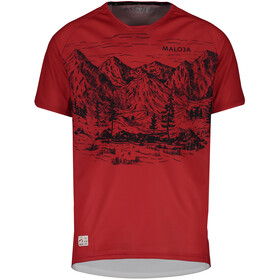 Maloja SerlasM. T-shirt Herrer, red poppy